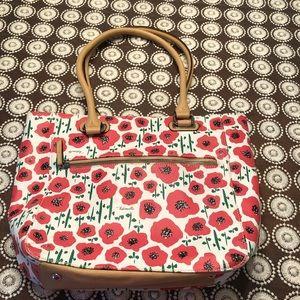 Tignanello Perfect Pockets Medium Poppy Tote